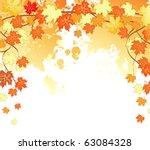 autumn leafs back | Shutterstock .eps vector #63084328