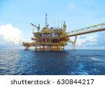 offshore construction platform...   Shutterstock . vector #630844217