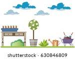 garden accessories | Shutterstock .eps vector #630846809