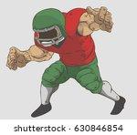 American Football Player Vector ...