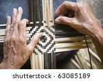 Bamboo weaving - stock photo