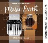 music poster event for festival ...   Shutterstock .eps vector #630854375