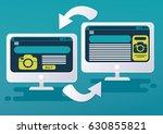 retargeting process. vector... | Shutterstock .eps vector #630855821