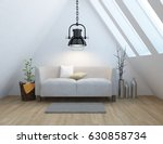 white room interior with... | Shutterstock . vector #630858734