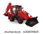 red earth mover isolated on a...