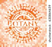 botany abstract orange mosaic... | Shutterstock .eps vector #630864659