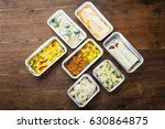 different type of ready tasty... | Shutterstock . vector #630864875