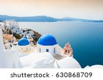 church with blue domes on...   Shutterstock . vector #630868709