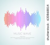 poster of the sound wave from... | Shutterstock .eps vector #630868814