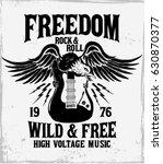 rock festival poster. rock and... | Shutterstock .eps vector #630870377