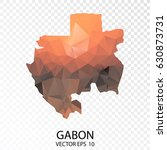 transparent polygon map  ... | Shutterstock .eps vector #630873731