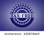 tax free badge with denim... | Shutterstock .eps vector #630878669