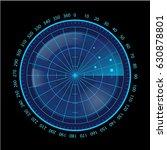 digital blue radar screen on...   Shutterstock .eps vector #630878801