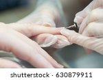 women's manicure  hand care | Shutterstock . vector #630879911
