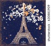 vintage vector illustration of... | Shutterstock .eps vector #630881909