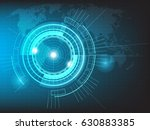 vector circle technology with... | Shutterstock .eps vector #630883385