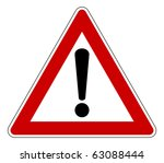 Red Traffic Triangle Warning...