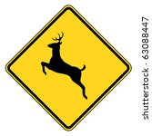 Deer Crossing Warning Sign ...