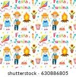 festa junina seamless pattern.... | Shutterstock .eps vector #630886805