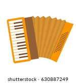 accordion icon flat  cartoon... | Shutterstock .eps vector #630887249