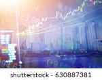 stock market chart on digital... | Shutterstock . vector #630887381
