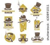 gentleman or man smoking club... | Shutterstock .eps vector #630891011