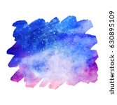 watercolor colorful starry... | Shutterstock .eps vector #630895109