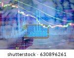 financial data on a monitor.... | Shutterstock . vector #630896261
