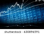 financial data on a monitor.... | Shutterstock . vector #630896591