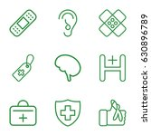 aid icons set. set of 9 aid... | Shutterstock .eps vector #630896789