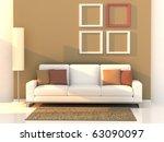 3d render living room  modern... | Shutterstock . vector #63090097