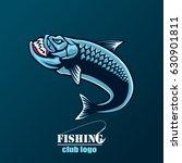 angry tarpon fish logo. tarpon... | Shutterstock .eps vector #630901811