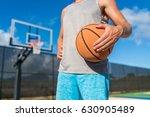 basketball player man holding... | Shutterstock . vector #630905489