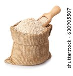 bran and wooden scoop in bag... | Shutterstock . vector #630905507
