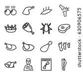leg icons set. set of 16 leg... | Shutterstock .eps vector #630906575