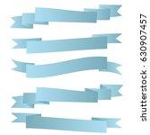 pack of sky blue ribbons on... | Shutterstock .eps vector #630907457
