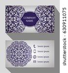 business card  vintage card set ... | Shutterstock .eps vector #630911075