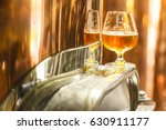 glass with amber ale beer... | Shutterstock . vector #630911177
