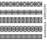 set of black borders isolated... | Shutterstock . vector #630912194