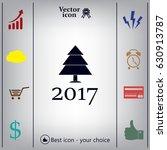 new year tree  vector... | Shutterstock .eps vector #630913787