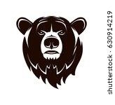 vector logo. bear head on a... | Shutterstock .eps vector #630914219