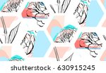 hand drawn vector abstract... | Shutterstock .eps vector #630915245