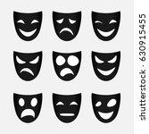 vector image of set of black... | Shutterstock .eps vector #630915455