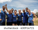 group of fit people posing...   Shutterstock . vector #630916721