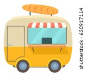fast food trailer with loaf... | Shutterstock .eps vector #630917114