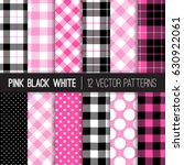 pink  black and white polka... | Shutterstock .eps vector #630922061