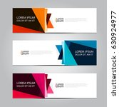 vector design banner background. | Shutterstock .eps vector #630924977