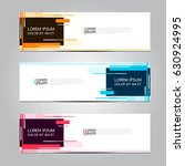 vector design banner background. | Shutterstock .eps vector #630924995