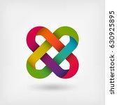 solomon knot in rainbow colors. ... | Shutterstock .eps vector #630925895