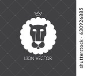 lion vector emblem with crown.... | Shutterstock .eps vector #630926885